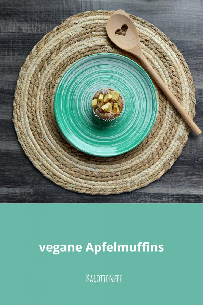 Pinterest-Pin: vegane Apfelmuffins