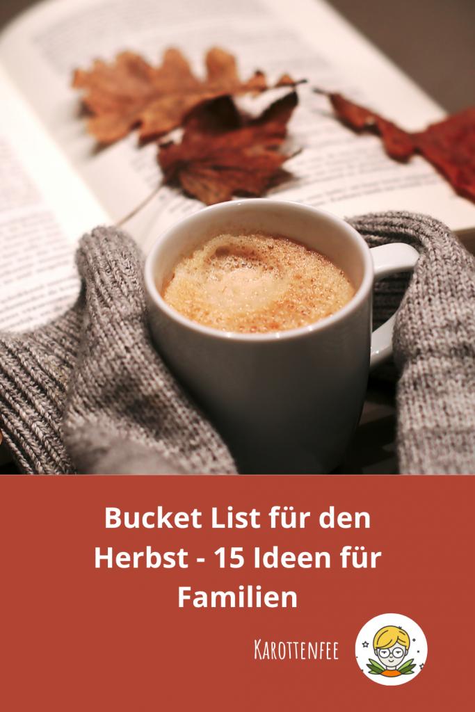 Pinterest-Pin: Bucket List für den Herbst - 15 Ideen für Familien
